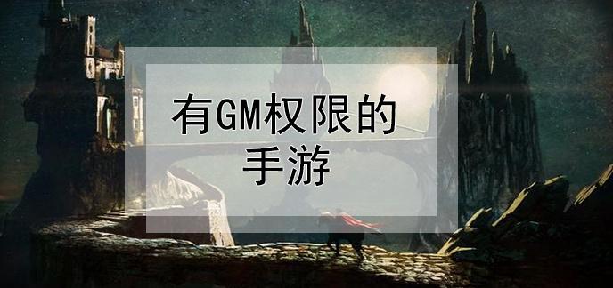 有GM权限的手游