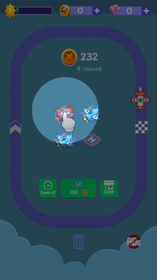 放置飞机合并游戏截图2