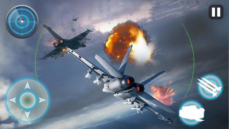 飞机战争:现代空战游戏截图1