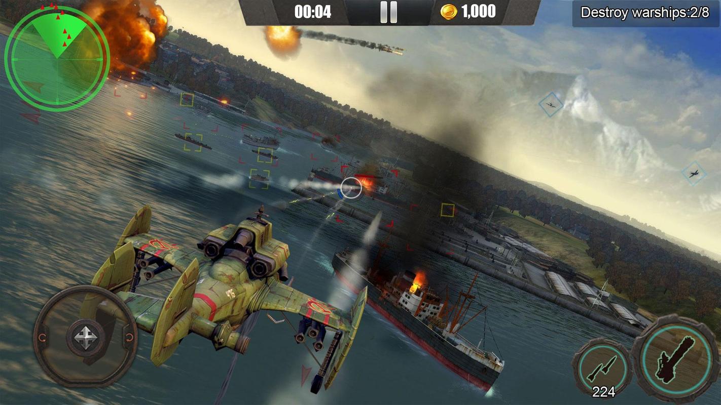 皇牌突袭:武装直升机空战游戏截图2