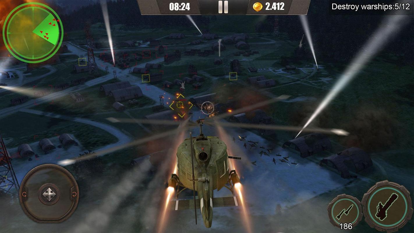 皇牌突袭:武装直升机空战游戏截图1